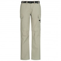 Outdoorhose Damen DEPROC KENORA Full Stretch Zip-Off sand front