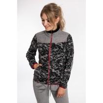 Linea Primero Damen Fleecejacke WEDGWOOD WOMEN in außergewöhnlichem All-Over-Design