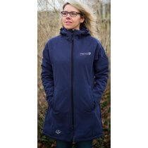 Softshell Mantel Damen DEPROC GRIZZLY PEAK LONG Lady  dark blue Model