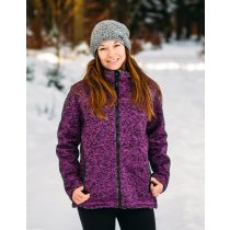 Strickfleece Jacke Damen DEPROC ELKFORD Lady  purple Model