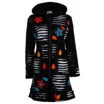 Patchworkmantel Damen SPIRIT OF NEPAL Flowerpower Kapuzenjacke