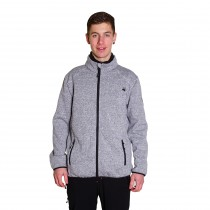 Dünne Strickfleece-Jacke Herren DEPROC WILLOWDALE MEN light gray Model