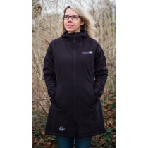 Softshell Mantel Damen DEPROC GRIZZLY PEAK LONG Lady  dark black Model